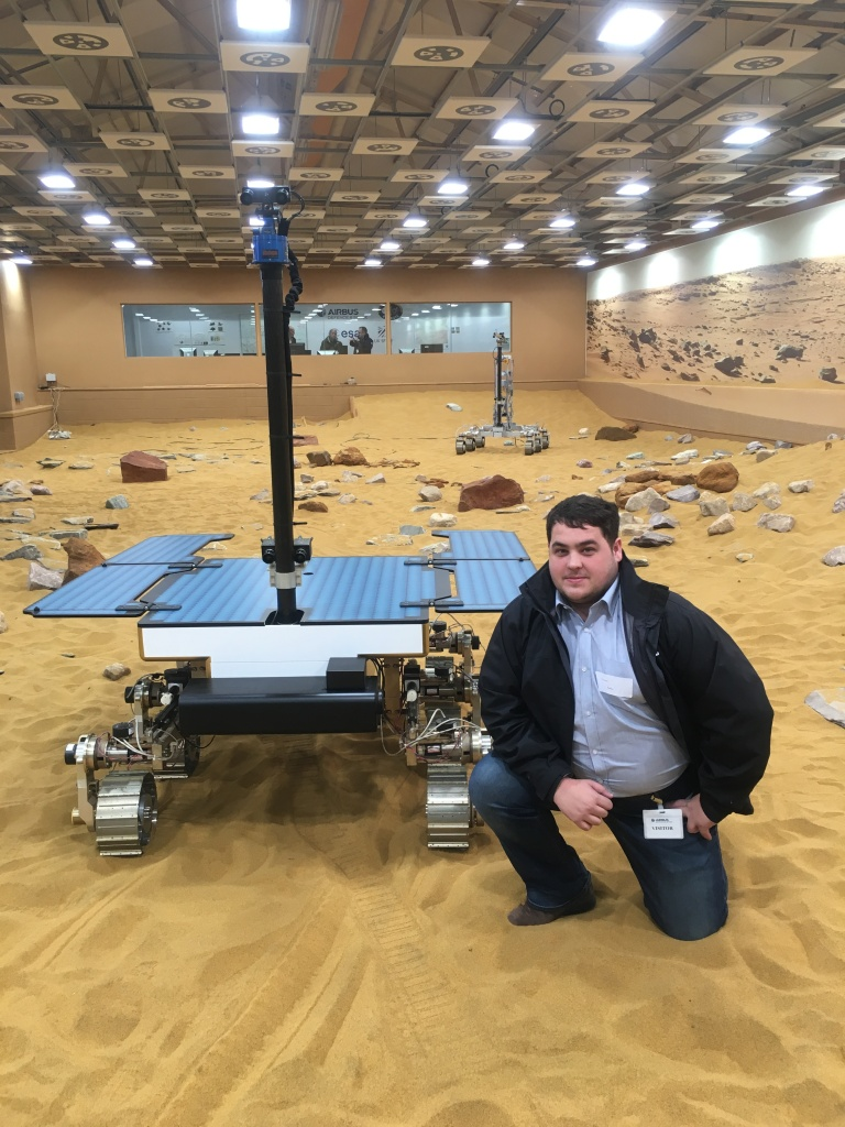 Simon A. Betts with the Exo Mars Prototype in 2018
